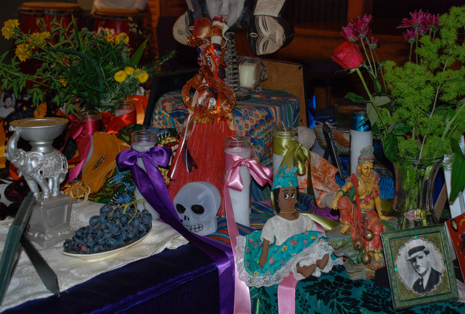 Festival of Bones, 2010, 5 Directions altar, East left, North, right
